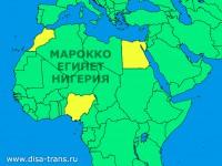 Доставка и растаможка грузов из Марокко, Египта и Нигерии